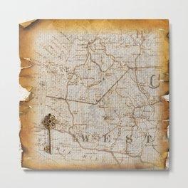 Fantasy Land: Map Metal Print