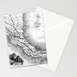 Vintage Map of Panama (1851) BW Stationery Cards