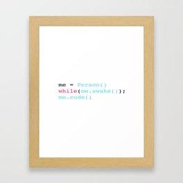 Keep coding Framed Art Print