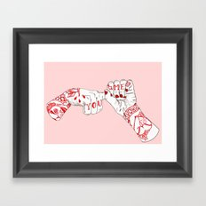 You, Me, Tonight Framed Art Print