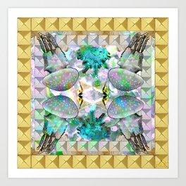 GOLD MEDUSA Art Print