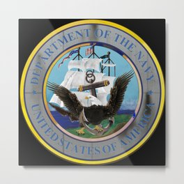 Seal of the Navy Metal Print