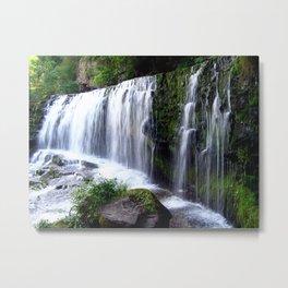 Waterfall Sgŵd isaf Clun-gwyn  Metal Print