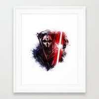 darth Framed Art Prints featuring Darth Nihilus by Vincent Vernacatola