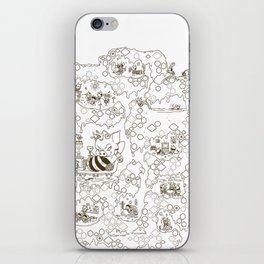 a swarm of bees (벌떼방클럽) iPhone Skin