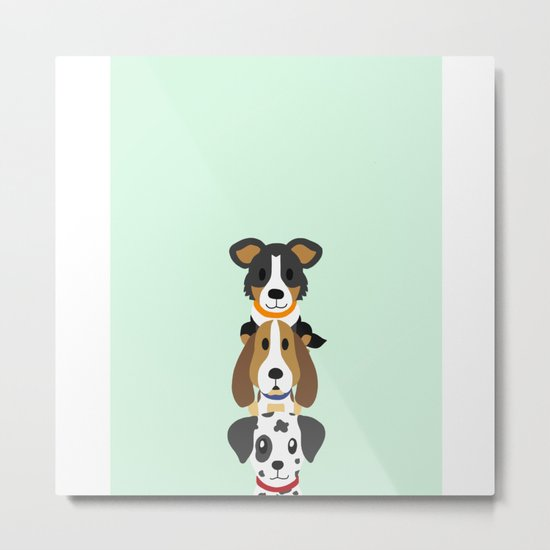 Too many dogs Metal Print