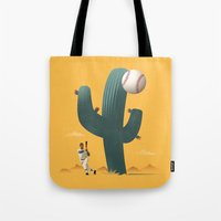 league Tote Bags featuring Cactus League by John W. Tomac