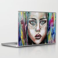 waterfall Laptop & iPad Skins featuring Waterfall  by Bella Harris