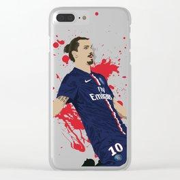 Zlatan Ibrahimovic - Paris SG Clear iPhone Case
