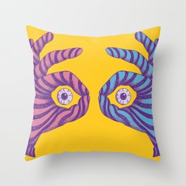 Thief Eyes Throw Pillow