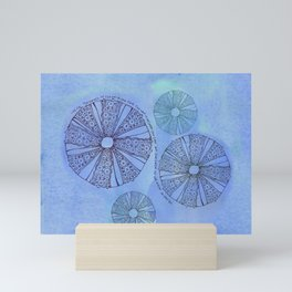 Blue Sea Urchin Mini Art Print