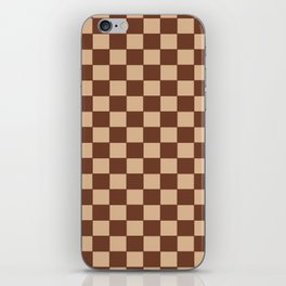 Checkers - Brown and Beige iPhone Skin