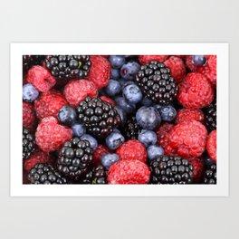 forest fruit Art Print