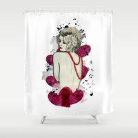 naked Shower Curtains featuring Naked by Melania B