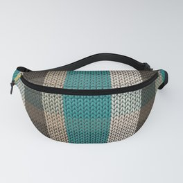 Knitted stripes in autumn colors Fanny Pack
