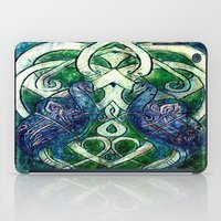 celtic iPad Cases featuring Celtic Peacocks by D. Renee Wilson