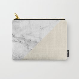 Marble + Pastel Cream Carry-All Pouch