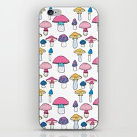 mushroom iPhone & iPod Skins featuring Mushroom by Elyse Beisser