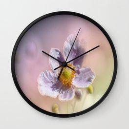 Beautiful Pastel Anemone Wall Clock