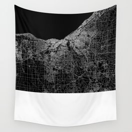 Cleveland map Ohio Wall Tapestry