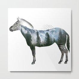Zebra World Metal Print