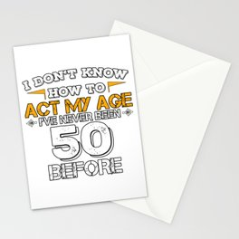 Birthday Gift 50 Years Fifty Born 1968 Stationery Cards