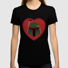 Fett Love (Boba Fett) Womens Fitted Tee Black LARGE