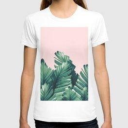 Blush Banana Leaves Dream #3 #tropical #decor #art #society6 T-shirt