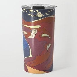 Backview of A Young Woman Dancing In A Night Club Travel Mug