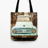 truck Tote Bags featuring truck by Carl Christensen