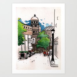 Philippines : Santa Cruz Church Art Print