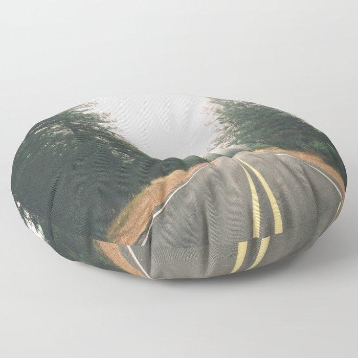 Follow the Road Floor Pillow