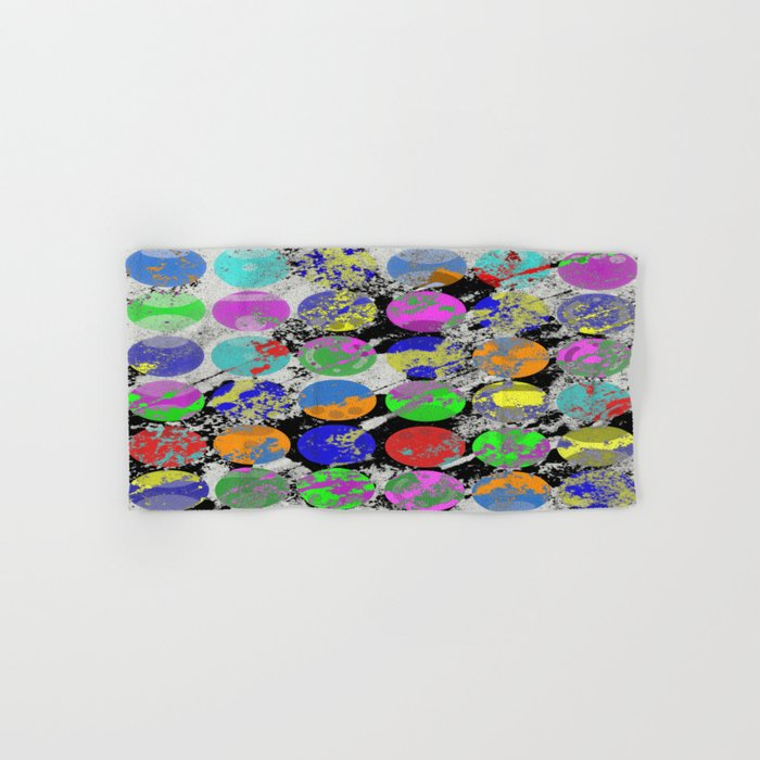 Textured Circles - Abstract, geometric, textured artwork Hand & Bath Towel