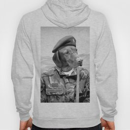 Dog Army Soldier Hoody