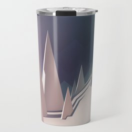 Winter trees landscape Travel Mug