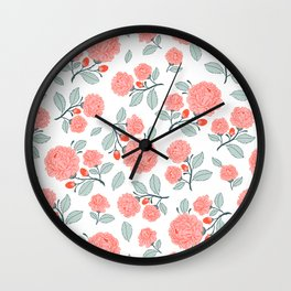 Royal Rose Pattern Wall Clock