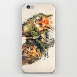 The Fox Nature Surrealism iPhone Skin