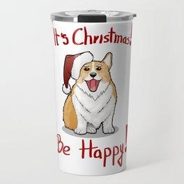 Christmas Corgi Travel Mug