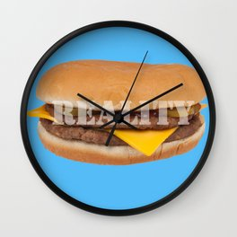 Reality (blue) Wall Clock