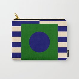 GEOMETRY BLUE&GREEN V Carry-All Pouch