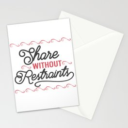 Share without rstraints Stationery Cards