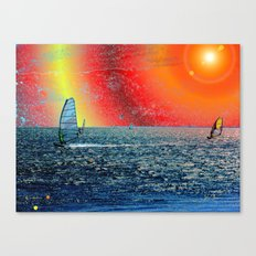 Wind, Surf and Sun Canvas Print