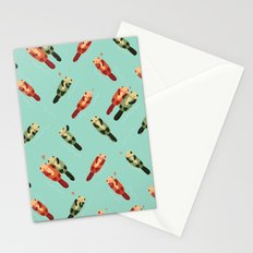 Otters' attractions Stationery Cards