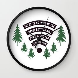 No Wifi Better Connection Nature Adventure Lovers Outdoor Humor Wall Clock