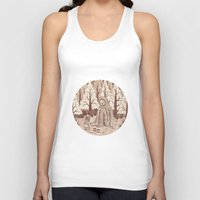 bigfoot Tank Tops featuring Bigfoot by Najmah Salam