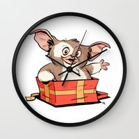 gizmo Wall Clocks featuring Gizmo Gift by The Drawbridge
