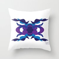 spaceship Throw Pillows featuring Spaceship by David Nuh Omar
