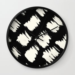 Tribal Brushed Dot Wall Clock