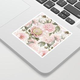 Vintage & Shabby Chic - Antique Pink Peony Flowers Garden Sticker