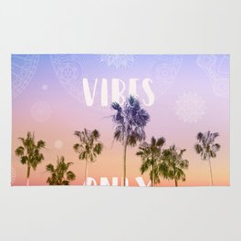 summer vibes only palm trees design Rug